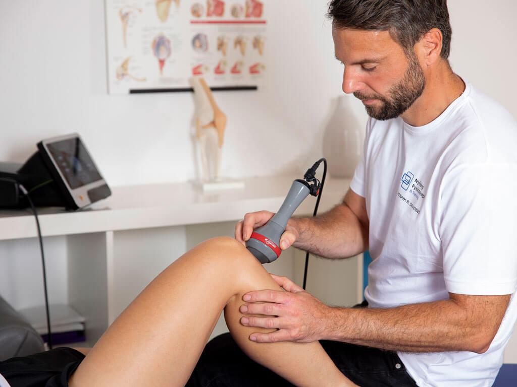 Klient undersøges vha ultralyd